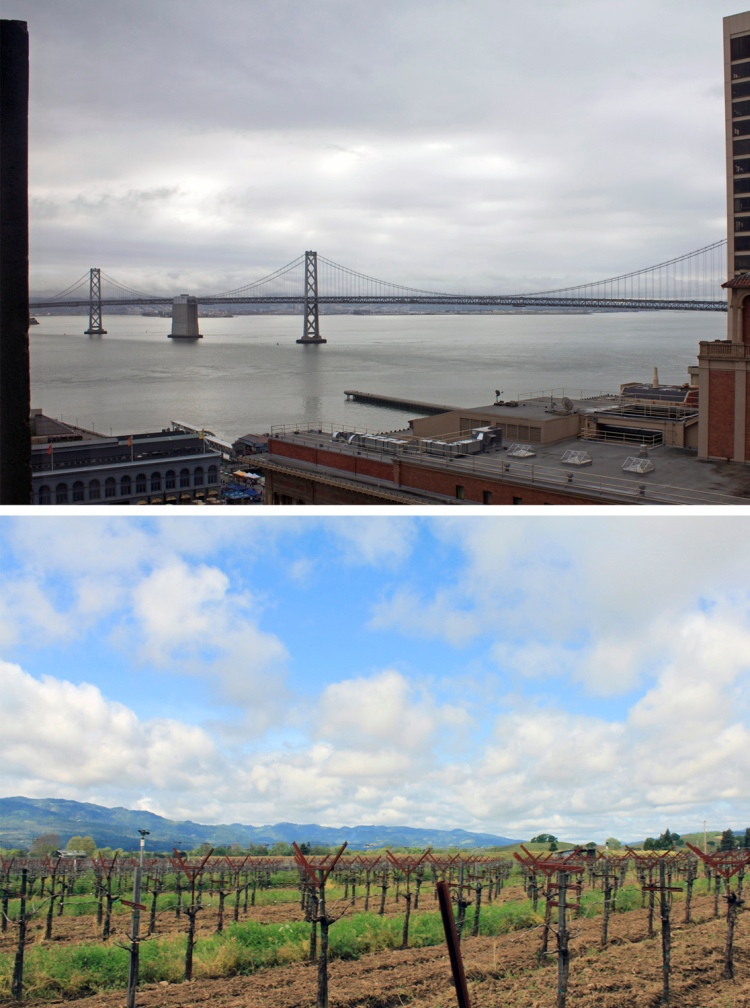 A typical Bay Area day: from morning clouds to afternoon sun